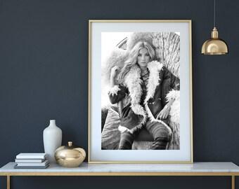 Bohemian print, bohemian decor, bohemian wall art, Fashion model print, vogue photography,  fashion photography, tribal print, fashion print