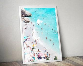 Aerial photography, ocean print, landscape photo, Beach print, Beach photography, ocean landscape, Ocean Water, ocean waves, aerial beach