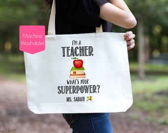 Teachers book bags | Etsy