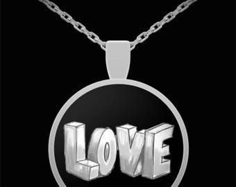 LOVE Valentine Jewelry I Love You Heart Necklace Gift Anniversary Birthday Dad to Daughter Wife Spouse Girlfriend Engagement Gift