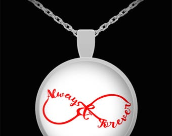 Always and Forever Red Infinite Jewelry Necklace I Love You Gift Anniversary Birthday Engagement Sweetheart Gift