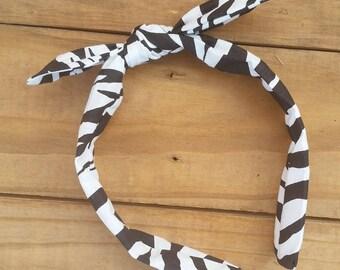 Zebra Knotted Headband