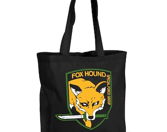 Foxhound Large 100% Cotton Tote Bag Inspired by Metal Gear Solid