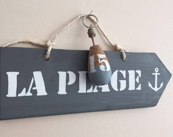 Wooden sign with message