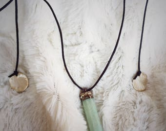 Silver Plated Amazonite Necklace