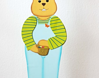 Easter Bunny stand figure wood ca 61 cm high