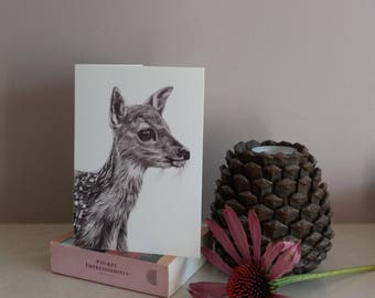 Deer greetings card | greetings card | wildlife  card | british wildlifeg reetings card