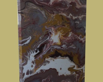 Fluid Acrylic Abstract Painting - One of a Kind -  18 x 25