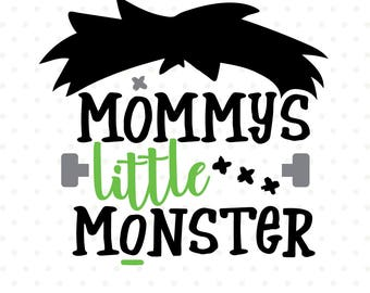 Mommys Little Monster SVG file, Halloween SVG, Boys Halloween Shirt SVG design, Fall Iron on file, Monster svg, Halloween Clipart