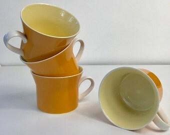 Vintage Mikasa Orange Coffee Mugs, Coffee Cups, Retro Mugs, Coffee Mug Set, Coffee Cup, Replacement, Vintage Kitchen, Mid Century Modern