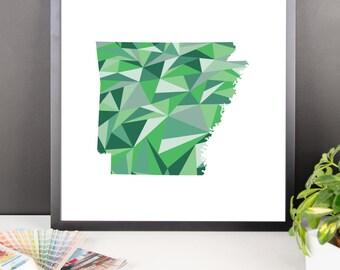 ARKANSAS State Pattern Map Print, Arkansas Poster, Arkansas Wall Art, Arkansas Art, Arkansas Gift, Arkansas Decor, Arkansas Print, Arkansas