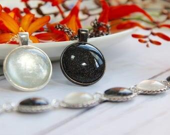 Black & White Jewellery - Handmade Bracelet - Monochrome Bracelet - Monochrome Necklace - Black Necklace - White Necklace