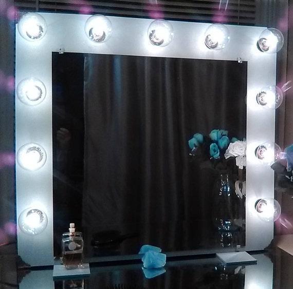 hollywood vanity mirror with lights large 11 bulbs. Black Bedroom Furniture Sets. Home Design Ideas