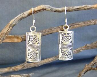 Silver Earrings 925. Silver jewellery. Ethnic earrings. Ethnic jewellery.