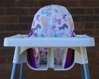 Girl IKEA High Chair Cover, IKEA Antilop Cover, Highchair Cover, High Chair Cushion, High Chair Insert, Baby Animal Nursery, Cake Smash Prop