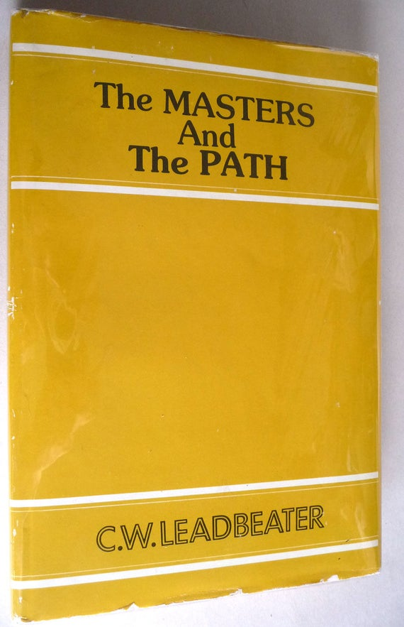 The Masters and the Path (An Abridgment) 1988 C.W. Leadbeater HC DJ