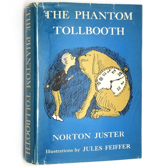 Phantom Tollbooth by Norton Juster, Illus by Jules Feiffer 1964 4th Printing Hardcover HC w/ Dust Jacket - YA Fiction Novel - Random House