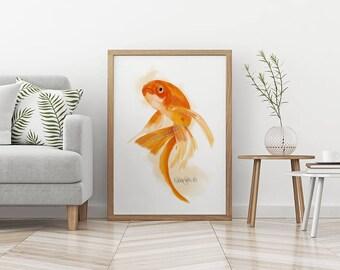 Goldfish Print Feng Shui Art Fish Wall