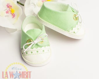 "Green Sorbet Color Oxford Flats for Disney Animators 16"" dolls Rockabilly"