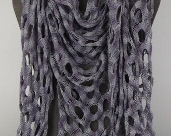 Egyptian Cotton Shawl, Handknit
