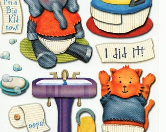 Potty Training Baby Toddler Boy Girl Karen Foster Scrapbook Stickers Embellishments Cardmaking Crafts