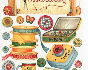 Crafts Mom Mother Grandmother Grandma Scrapbook Stickers Embellishments Cardmaking Crafts