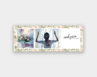 Facebook Timeline Cover Template | Tropical Flowers | .PSD | Photoshop Template