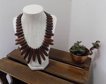 Vintage Wooden Necklace
