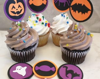 Halloween-themed Cupcake Toppers - Halloween Party