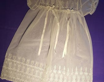 Christening gown ,ivory baptism baby dress ,(2)