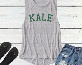 Kale, Kale Tank Top, Kale tshirt, Kale shirt, Vegan Shirt , Kale Tee, Kale Top, Vegetarian T Shirt, save animals, vegan clothing , herbivore