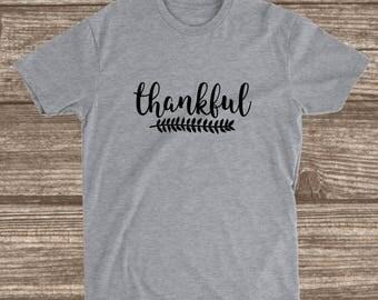 Thankful Shirt - Women's Fall Shirts - Custom Fall Shirts - Grateful Shirts - Blessed Shirts - Inspirational Shirts