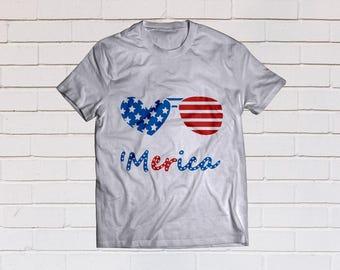 Merica svg, Four of july svg, 4th of july svg, America svg, Patriotic svg, SVG Files, Cricut, Cameo, Cut file, Clipart, Svg, DXF, Png, Eps