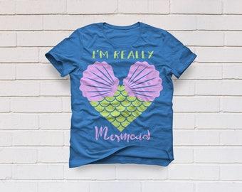 Mermaid svg, I'm a mermaid svg, mermaid party shirt, Mermaid tail svg, mermaid heart svg, girls svg, Cricut, Cameo, Svg, DXF, Png, Pdf, Eps