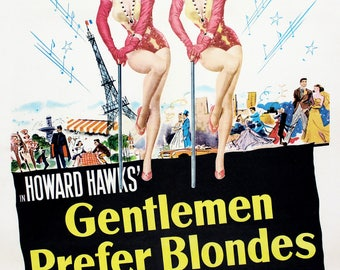"Marilyn Monroe & Jane Russell - Gentlemen Prefer Blondes - Mini Poster - (A4 Size - 210mm x 297mm - 8.25"" x 11.75"") Ideal For Framing"