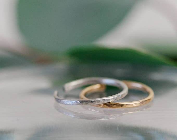 Featured listing image: Stacker Rings || Adjustable || 14k gold and sterling silver