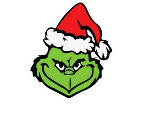 Grinch outline laptop cup decal SVG Digital Download Cuttable Files Cricut Silhouette