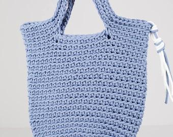 STURDY crocheted HANDBAG