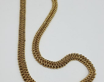 Classic & Elegant Monet Intricate Gold Tone Link Chain Necklace