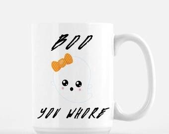 Mean Girls Mug / Funny Halloween Mugs / Ghost Mug / Mean Girls Quotes / Halloween Mug / Cute Ghost / Funny Mugs For Women / Film Quotes Gift