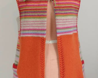 Refashioned Tie-Front Sleeveless Tunic