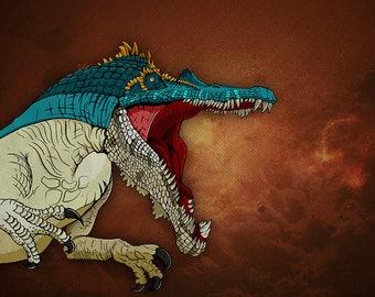 Dinosaur Print - Baryonyx Jurassic Park, Jurassic World