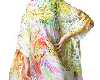 Harper 'Yellow Palm' Kimono Cover-up