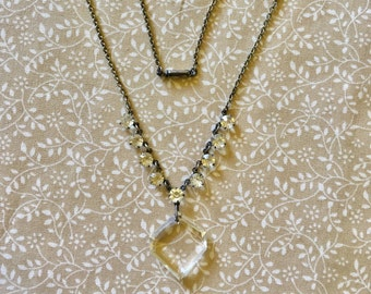 Vintage Art Deco Crystal Necklace 1920s/1930s