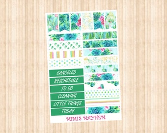 Cactus Banners & Flags // Happy Planner // Erin Condren //Personal