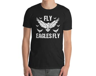 Fly eagles fly Philadelphia T-Shirt eagles fan eagles football eagles gift nfl eagles sign philly go eagles shirt super bowl basketball