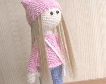 Crochet doll,Amigurumi doll, Soft doll, Handmade doll, Unique Doll, Personalized Doll, Interior doll, Gift for girl, Cute doll, Tilda Doll