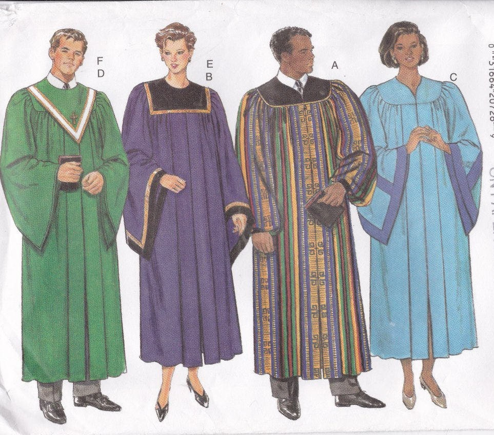 Halloween costume sewing pattern adult costume for men choir robes sold by patternsfromoz jeuxipadfo Images