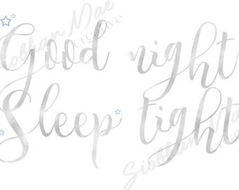 Good Night Sleep Tight Baby Nursery Wall Art Decor Print