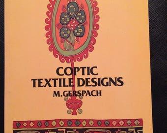 Book - Coptic Textile Designs by M. Gerspach 1975